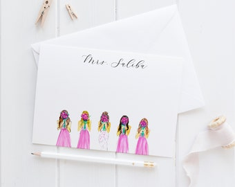 Bridal Personalized Stationery Set (Bridal Cards - Bridal Shower Gift- Bridal Stationery -  Personalized Bridesmaid Gift - Bride Gifts)