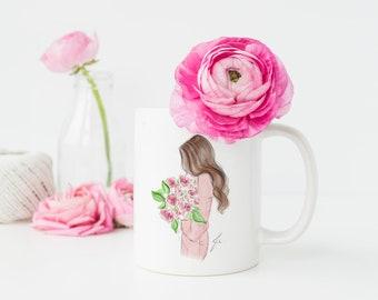 Rose dress (mug)