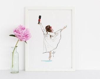 Clara - Nutcracker (Fashion Illustration Print)