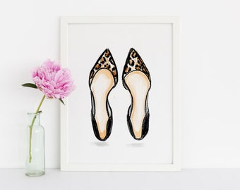Leopard Flats (Fashion Illustration — Melsy's Illustrations — Autumn)