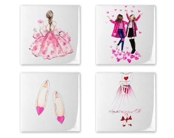 Valentine's Day Coaster Set