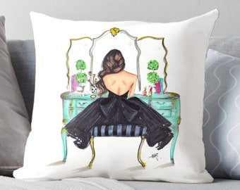 The Turquoise Vanity  (Pillow)