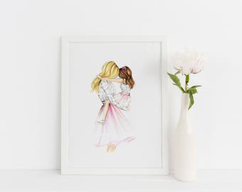 A Girl's Best Friend (Fashion Illustration Print) (Fashion Illustration Art - Fashion Sketch prints - Home Decor -Mother's Day Gift Ideas)