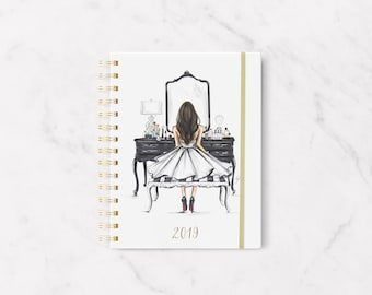 The Black Vanity (Brunette) 2019 PLANNER -  By Melsy's Illustrations