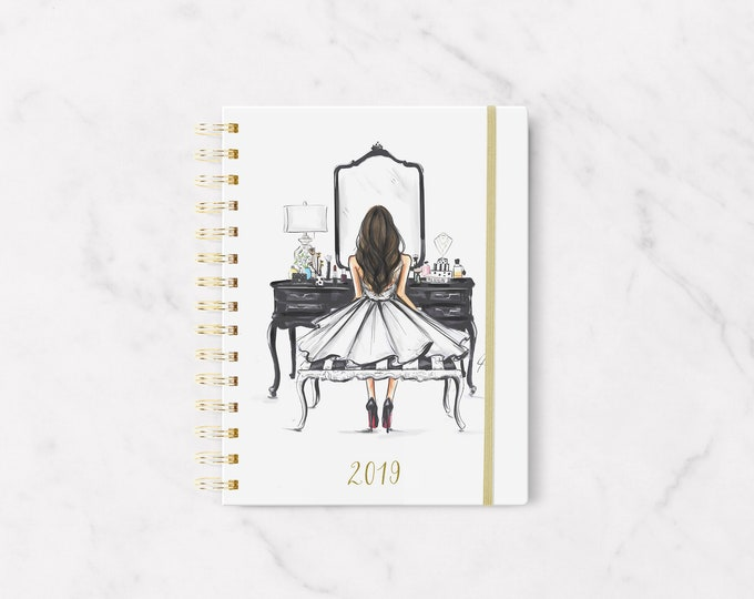 Featured listing image: The Black Vanity (Brunette) 2019 PLANNER -  By Melsy's Illustrations