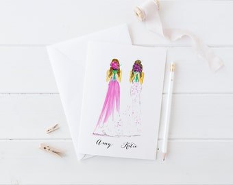 Bride and Bridesmaid/MOH (Custom bridesmaid card - Will You Be My Bridesmaid - Bridal Card - Bridesmaid Card - Bridesmaid Gift - MOH CARD)