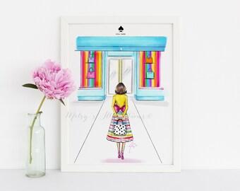 KATE -  DONATION - Fashion Illustration Print - Office Decor - Illustration - Fashion Art - Art - Gift Ideas - Home Decor