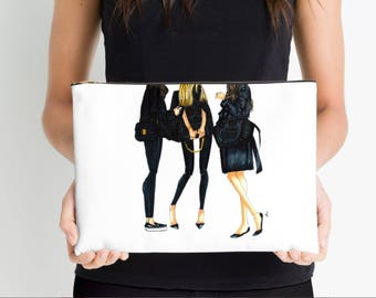 Ladies in Black Cosmetic Case
