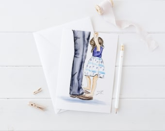 Daddy Daughter Dance  (Card)(Melsy Cards Sets - Personalized Stationery Wedding Cards  Birthday Cards Bridal Shower Cards)
