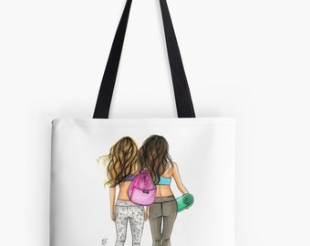 The Workout TOTE (Fashion Illustration art  Home Decor Gift Ideas  Gifts for Her Wedding Gifts Graduation Gifts Birthday Gifts)