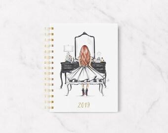 PRE- ORDER 2019 Melsy's Illustrations Planner (The Black Vanity - Red)
