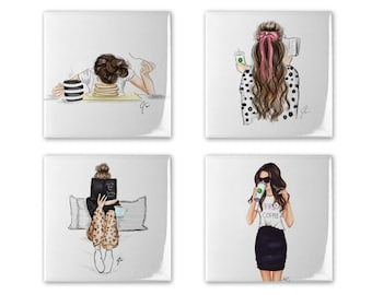 Coffee Lover's Coaster Set of 4