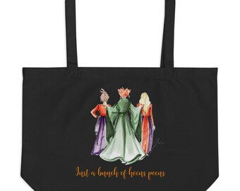 Just A Bunch Of Hocus Pocus (Large Tote) (Trick-or-Treat Tote) By Melsy's Illustrations