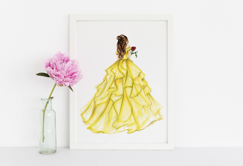 Princess and the Rose (Fashion Illustration Print) (Fashion ...