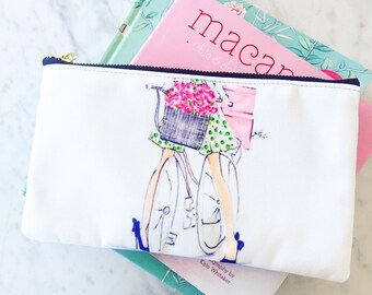 CUSTOM Cosmetic Bag (Monogramming also available)