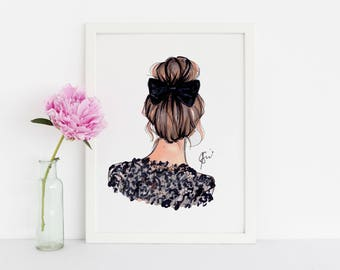 Bunday (Fashion Illustration Print - Fashion Sketch prints - Home Decor - Wall Decor )