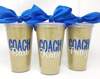 more colors personalized coach glitter tumbler coach gift idea