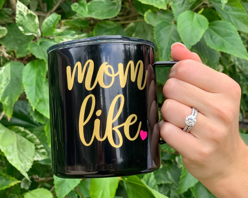 Mom Life Stainless Steel Insulated Coffee Mug 14oz Travel image 0
