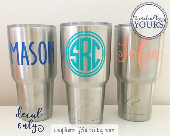 f52ecbb006c Monogram decal for ozark trail tumbler vinyl sticker for ozark trail cup  personalized decal for ozark