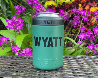 Personalized Name Vinyl Decal Sticker for Yeti Beer Can Cooler Customized Vinyl Sticker Beer Gift DIY Personalized Gifts for Him DECAL ONLY