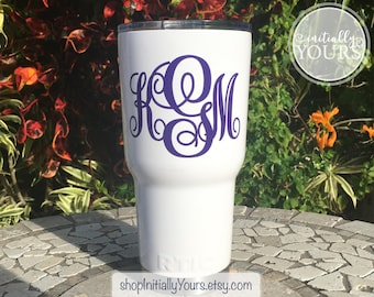 Vinyl Decal for RTIC, Rtic Monogram Decal, Rtic Decal, 30oz Rtic Tumbler Decal, Vinyl Decal for Rtic Cup, Name Decal for Rtic, DECAL ONLY