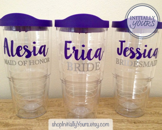 Personalized Bridal Party Tervis Tumbler 24oz With Lid Etsy