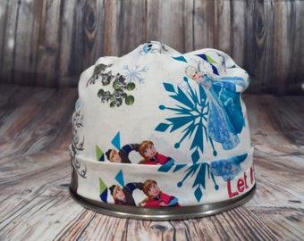 Women's Pixie Style Scrub Hat (Frozen Friends)