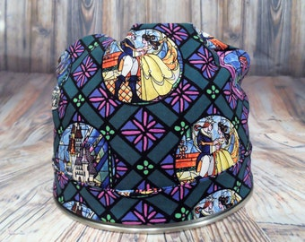 Women's Pixie Style Scrub Hat (Stained Glass Princess)