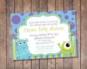 Monsters inc baby shower invitations etsy monsters inc baby shower invitation custom digital print filmwisefo