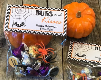 Bugs and Kisses Halloween Party Bags, Halloween Party Favors, Halloween Party Bags, Fun Party Favor Bags, Halloween Party Favors