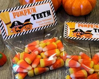 Fun Halloween Party Bags, Halloween Party Favors, Pumpkin Teeth Party Bags, Skeleton Bones Party Bags, Ghost Poop Party Bags, Spider Eggs