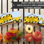 Construction Birthday Party, Construction Birthday Favors, Dump Truck Birthday Party, Dump Truck Party Favors, Boys Birthday Favors