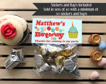 Cupcake Party First Birthday Favors 2nd 3rd Treat Bags Generic