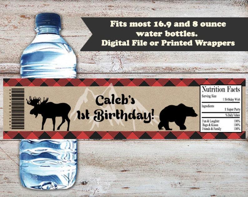 e9c102055669 Lumberjack Water Bottle Labels, Lumberjack Water Bottle Wrapper, Lumber  Jack Baby Shower, Birthday Water Bottle Label, Digital or Printed