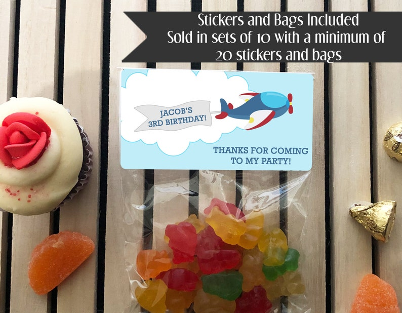 Airplane Party Favors Pilot Party Favors Airplane Birthday image 0