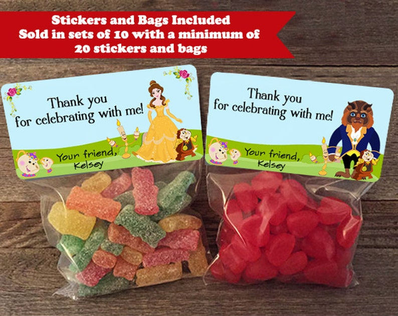 Beauty and the Beast Party Favor Bags Beauty and the Beast image 0