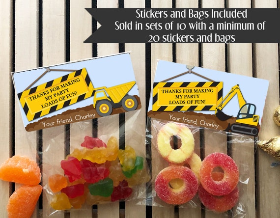 Construction Birthday Party Favors Dump Truck Boys