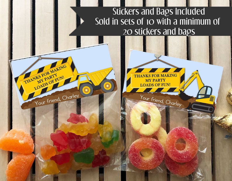 Construction Birthday Party Construction Birthday Favors image 0