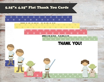 Editable Jedi Baby Thank You Cards, Star Wars, Thank You Cards, Birthday, Baby Shower, Instant Download, Several Color Options