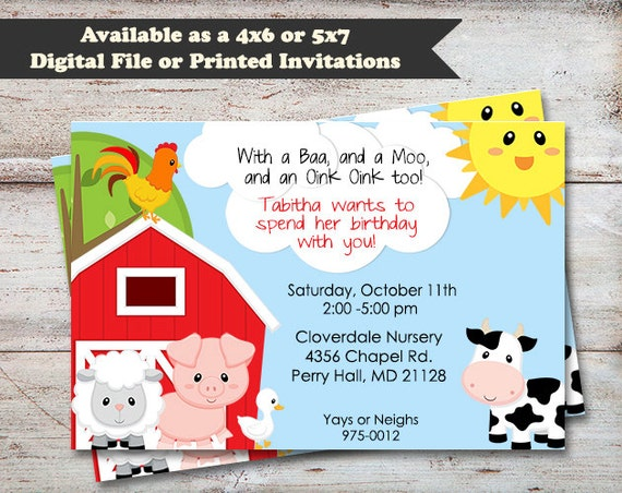 farmer boy birthday party invitations farm animals invitations cow