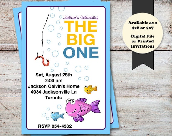 Fishing Birthday Party Invitations Fish Birthday Invitations The