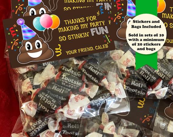 Poop Emoji Birthday Party Favors