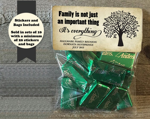 family reunion stickers and bags family reunion favors etsy