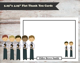 Editable Missionary Note Cards, Missionary Thank You Cards, LDS Missionary Gifts, Mormon Missionary Gift, LDS Note Cards, Men