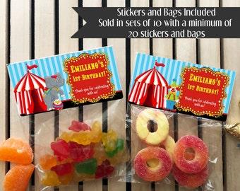 Carnival Birthday Favors, Circus Birthday Favors, Carnival Birthday Party, Circus Birthday Party, Carnival Party Favors, Circus Party Favors