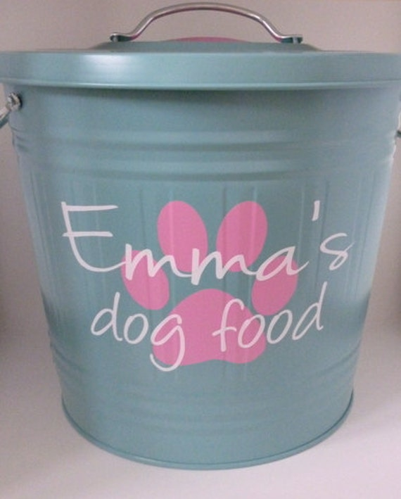 Personalized Dog Food Storage Container DECAL Removable Etsy