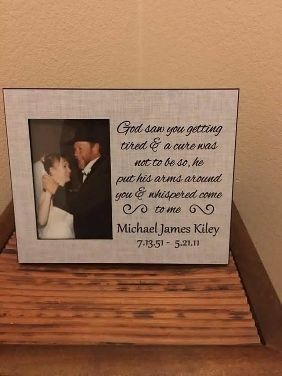 grey in memory of photo frame choose your own phrase etsy