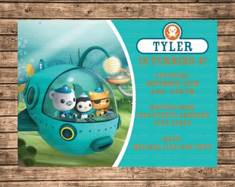 Octonauts invitation Etsy