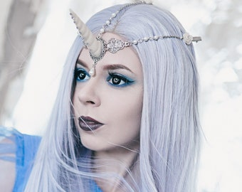 Unicorn Horn Headband Headpiece Headdress, Fantasy Pegasus Unicorn Hairband
