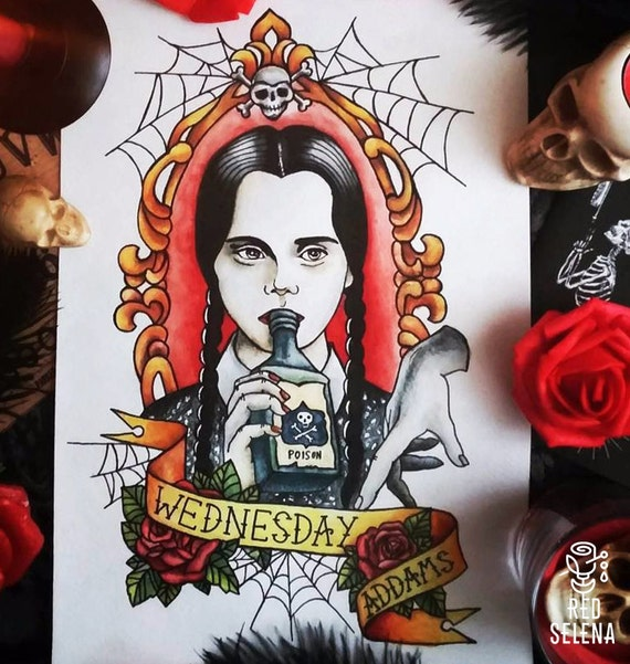 Wednesday Addams Poster by Will Argunas